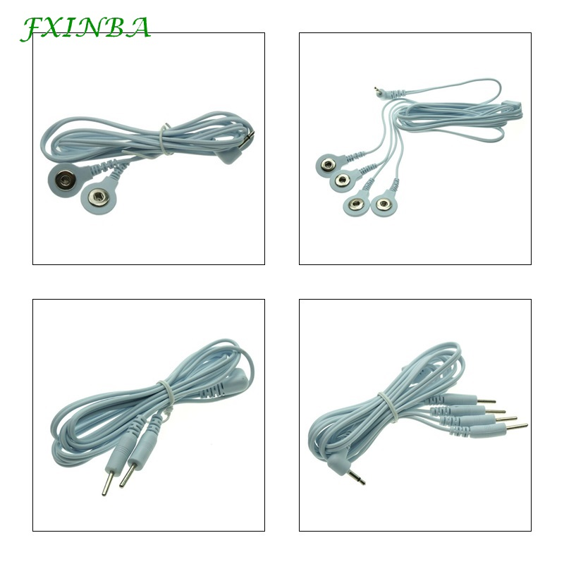 FXINBA 2/4 Head Pin Buckle Conversion Line Electric <font><b>Shock</b></font> Wire <font><b>Cable</b></font> Therapy Massager Accessories <font><b>Electro</b></font> Stimulation <font><b>Sex</b></font> <font><b>Toys</b></font> image
