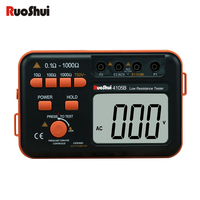 RuoShui4105B Digital Resistance Tester High precision Lightning protection megger earth Ground insulation component Tester Meter