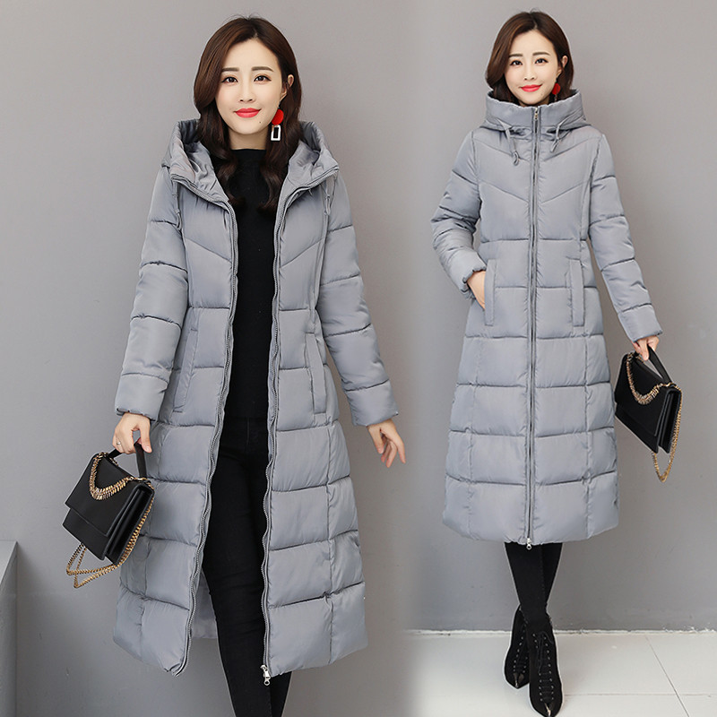2019 Winter Women Hooded Warm Coat Cotton Padded Jacket Female Long Thicken Down   Parka   Coat Jaqueta Feminina Large Size 6XL 1005