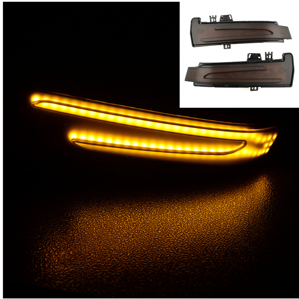 LED Dynamic Turn Signal Indicator Blinker <font><b>Light</b></font> For <font><b>Benz</b></font> A B C E S CLA GLA CLS Class W176 W204 W212 X156 X204 <font><b>W221</b></font> image