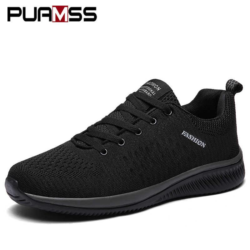 Yeni örgü erkekler rahat ayakkabılar erkekler Dantel-up hafif ayakkabılar rahat nefes yürüyüş sneakers erkek ayakkabı