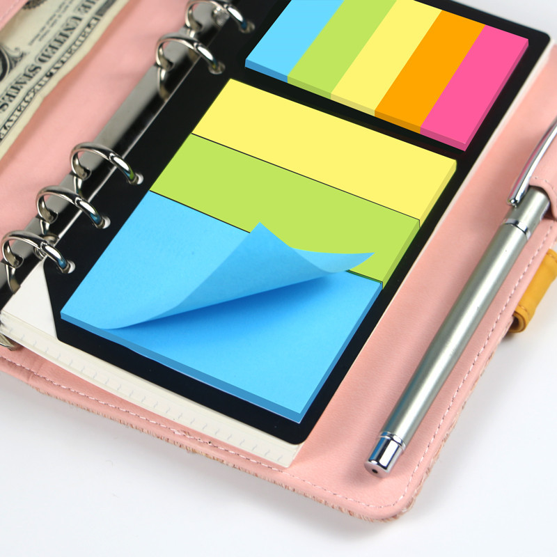 1pc B5 A5 A6 Sticky Notes Planner Schedule 6 Holes Binder Dairy Memo Divider Sticker For Loose Leaf Binder Spiral Notebook Gifts