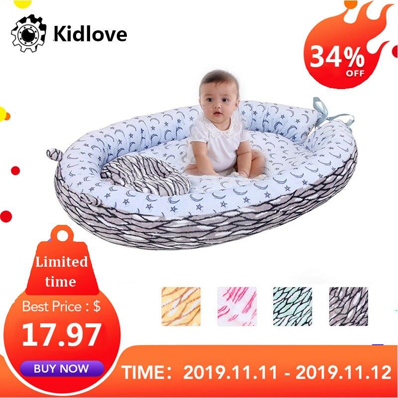 Kidlove Baby Nest Bed Travel Crib Baby Bed Infant Sleeping Cotton Cradle Portable Snuggle Newborn Baby Bassinet BB Artifact