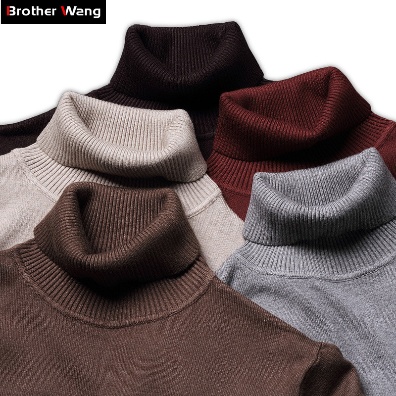 9-color Turtleneck Sweater Male 2020 Autumn And Winter New Style Fashion Casual Slim Fit Solid Color Warmth Pullover Male Brand