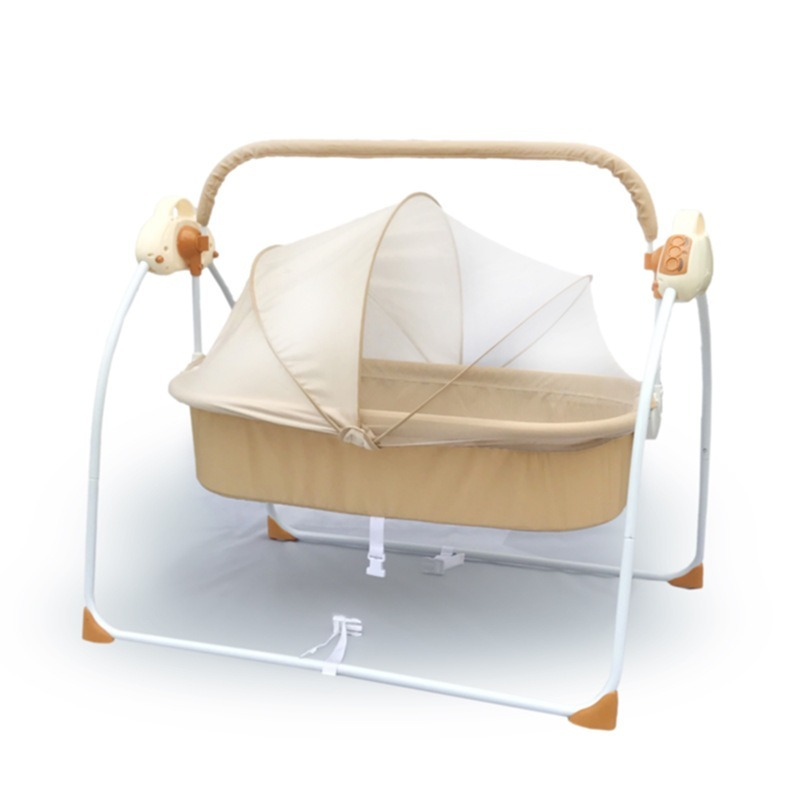 Baby Bed Bassinet  Electric Shaker Electric Cradle Bed Infant Shake Bed Newborn Sleeping Intelligent Automatic Flat Lay Crib