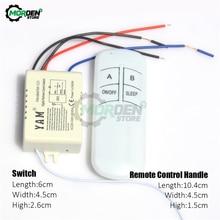 1/2/3/4 manera AC 220V Control remoto RF interruptor Kit de luz LED lámpara inalámbrica Digital en/de ventilador de techo Panel del interruptor