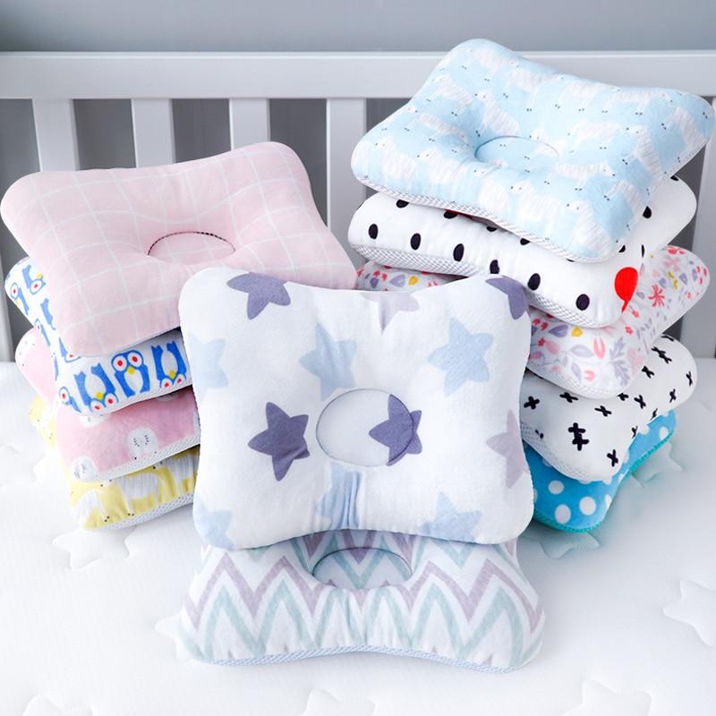 Muslinlife Head Protection Cushion Pillow Newborn Baby Kids Pillows Animal Printed Cotton Kids Pillow Sleep Positioner Dropship