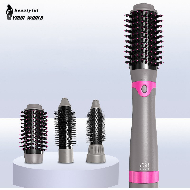 3 In 1 Multifunctional Electric Hair Dryer Brush Roller Rotate Styler Comb Straightening Curling Iron Hair Styling Tools