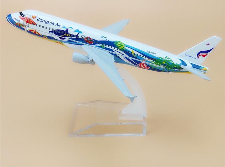 16cm Alloy Metal Thailand Thai Bangkok Air Airlines Airbus 320 A320 Airways Plane Model Aircraft Airplane Model W Stand