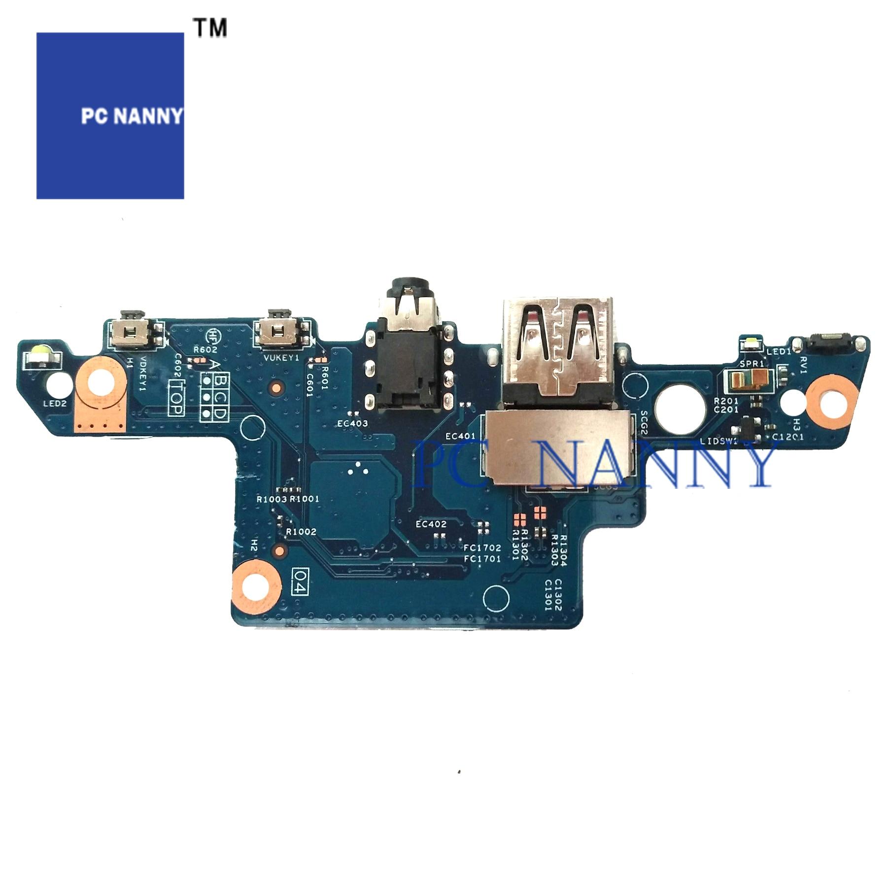 PCNANNY FOR HP ENVY X360 15-AQ M6-AR M6-AQ USB Audio Board Power Button Board 856801-001 test good(China)