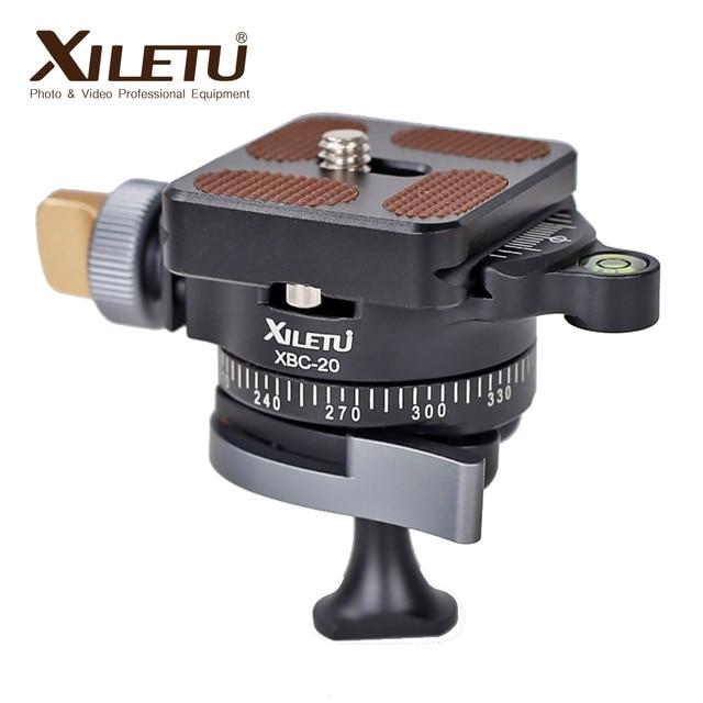 XILETU XBC 20 Tripod başkanı BallHead SLR kamera Monopod çift panoramik Gimbal