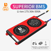 Porta comum do bloco bms 17s 60v 30a 40a 60a 80a 300a 400a 500a da bateria de lítio de daly 3.7v li-ion bms com equilíbrio para a energia solar