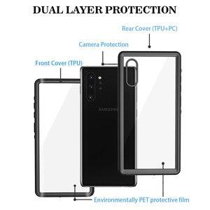 Image 5 - SHELLBOX Custodia Impermeabile Per Samsung Galaxy Note10 Più S10 Antiurto Caso Della Copertura Trasparente Per Samsung Note 10 Pro Cassa Del Telefono coque