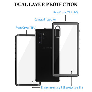 Image 5 - SHELLBOX Waterproof Case For Samsung Galaxy Note10 Plus S10 Shockproof Case Clear Cover For Samsung Note 10 Pro Phone Case Coque