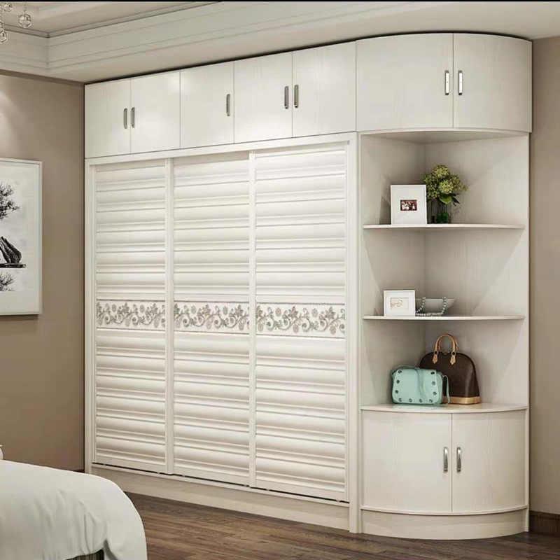 Ply Wood Wardrobe Modern Simple Bedroom Overall Wardrobe Sliding Door Sliding Shutter Door Storage Cabinet Wardrobes Aliexpress