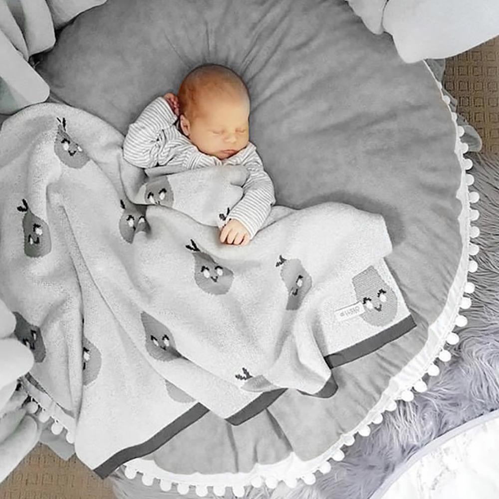 Baby Crawling Blanket Floor Carpet for Kids Room Mats Soft Round Cotton Padded Playmat Children Newborn Girl Boy Play Mat Gifts | Happy Baby Mama