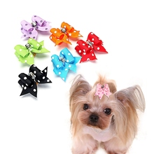 Pet-Hairpin Hair-Accessories Grooming Pet Puppy Dogs Double-Floor-Bow Cats 10pcs