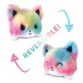Reversible Cat Gato Kids Soft Gift Plushie Plush Animals Double-Sided Flip Doll Cute Toys Peluches For Kids Girl Gift Unicorn 2