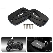 NEW CNC Aluminum Red Motorcycle Brake Fluid Fuel Reservoir Tank Cap Cover For YAMAHA T Max 500 TMAX 500 TMax 530