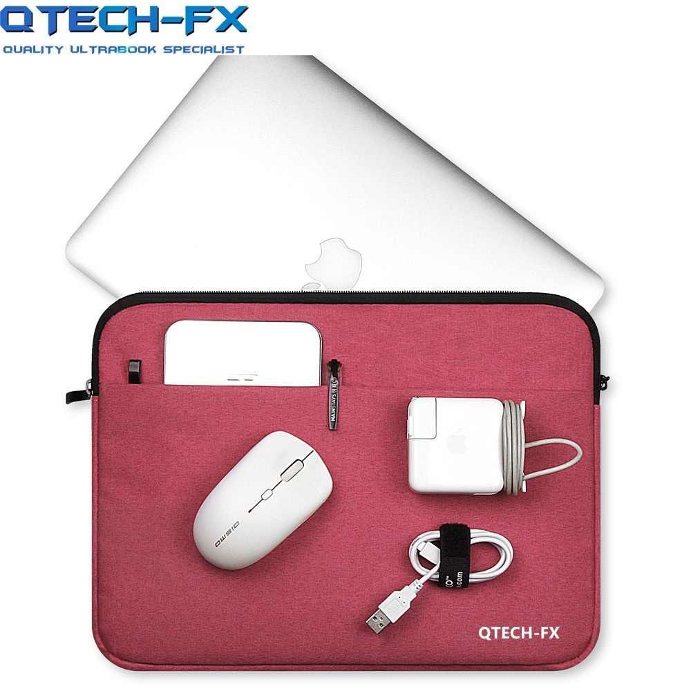 """Canvas Laptop Sleeve Tas Mannen Of Vrouwen Handtas 13 """"14"""" 15.6 """"Voor Apple Macbook Air Qtech Lenovo hp Notebook Case Computer Grijs"""