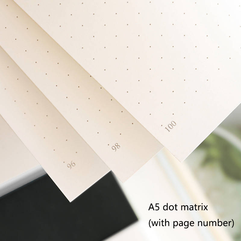 Image 4 - 1PCS Dot Grid notebook A5 Soft Cover Diary Bullet journal Notebook Dotted Journal Bujo agenda 2020Notebooks   -