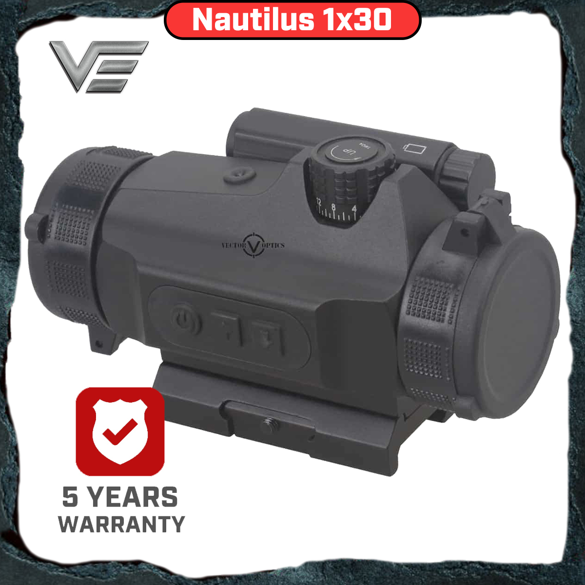 Vector Optics Nautilus Nautilus 1x30 Hunting Scopes Red Dot In Riflescopes Reflex Sight Auto Light Sense 110mm Weapon Sight