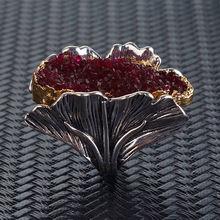 Женские кольца гингко l'amour & ma серебристые роскошные