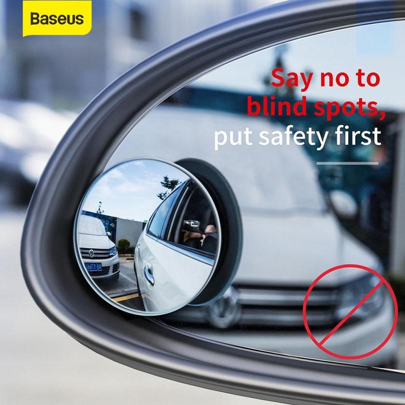 Baseus 2 sztuk pełny widok HD naklejka na samochodowe lusterko wsteczne do samochodu samochodowe lusterko wsteczne anty niewidomych Parking bez oprawek lusterka