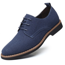 Plus Size 38-48 Oxford Men Shoes PU Suede Leather Spring Autumn Casual Male Dress