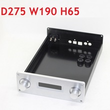 Size D275 W190 H65 Dac Versterker Behuizing Aluminium Voorversterker Amp Chassis Voeding Diy Case Rear Decoder WA8
