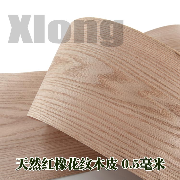 L:2.6Meters Width:220mm Thickness:0.5mm Imported Natural American Red Oak Skin Red Oak Pattern Wood Skin