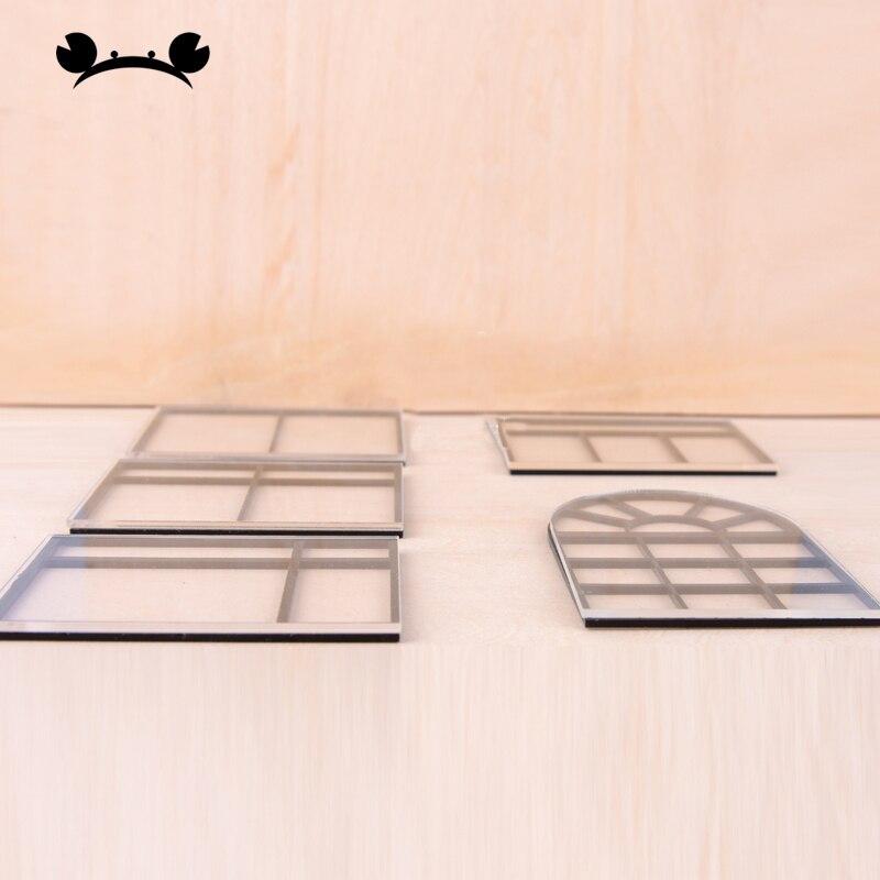 1//12 doll House Miniatura esterno in legno porta 6-Pannello /& TELAIO FISSAGGIO fai da te