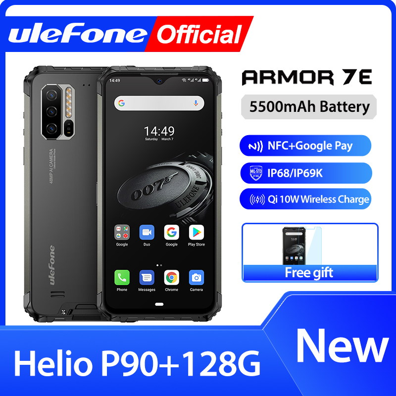Ulefone Armor 7E Rugged Mobile Phone Helio P90+128G Smartphone 2.4G/5G WiFi Waterproof IP68 Global Version Android 9.0 NFC/48MP|Cellphones|   - AliExpress