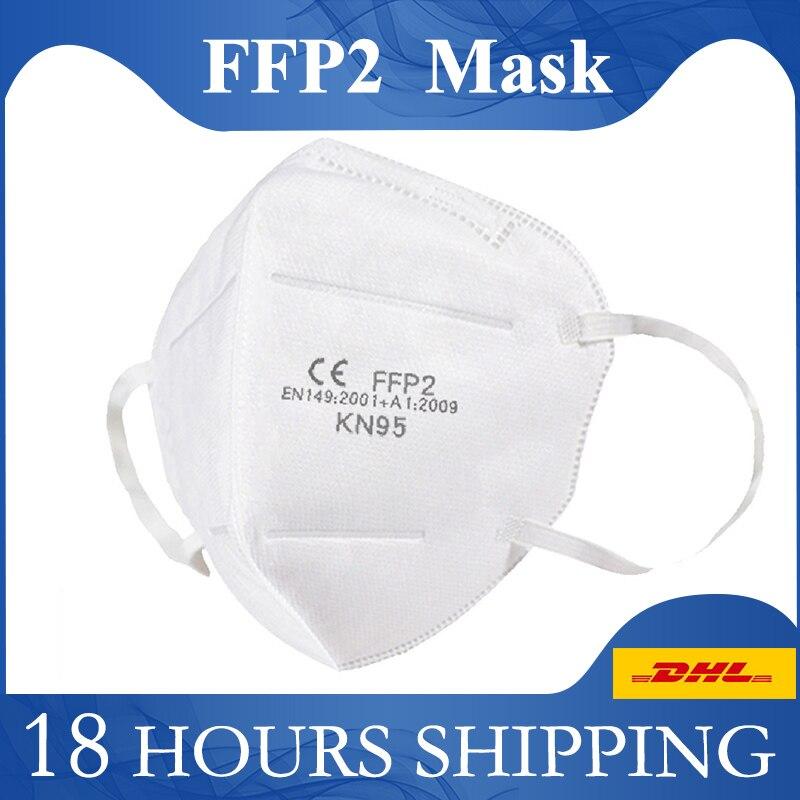 KN95 Mouth Mask FFP2 Protection Mask Disposable Face Masque Antibacterial Anti Virus Masks EN149 2001+A1:2009 Eu Certification