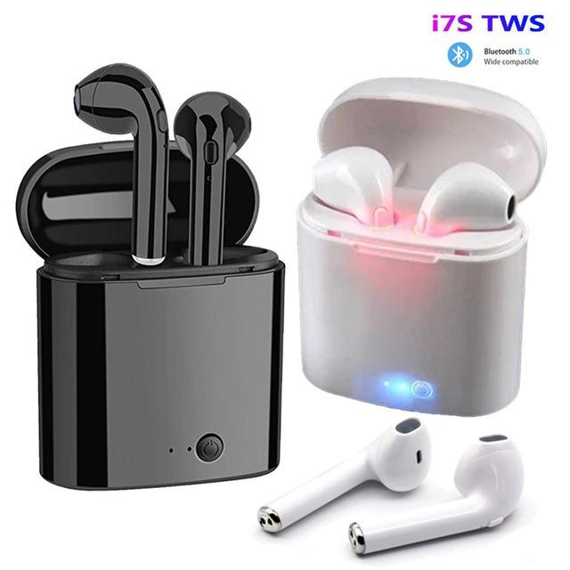 Auriculares TWS i7s, inalámbricos por Bluetooth 5,0, Auriculares deportivos con micrófono para teléfonos inteligentes Xiaomi, Samsung, Huawei y LG