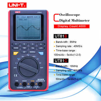UNI-T UT81B/C handheld digital oscilloscope multimeters 8MHz/16MHz 4000 Counts Scope Digital Multimeters USB Interface PC Soft - DISCOUNT ITEM  20% OFF All Category