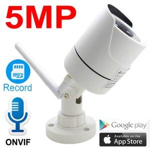 Image 1 - Jienuo câmera residencial, vigilância externa sem fio 5mp ip áudio cctv à prova d água 1080p alta definição onvif wi fi câmera doméstica