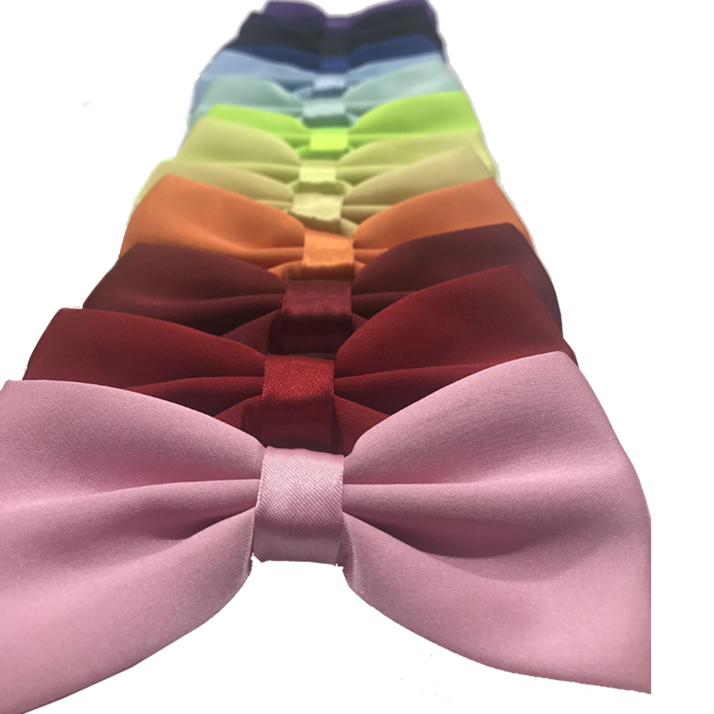 Men Bow Tie Fashion Skinny Solid Bowties Black Gold Bow Shirt Rainbow Tie Red Green Pink Blue White Classic Bowties For Men