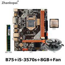 B75 Zhankvpai LGA1155 Cpu-Core Radiator DDR3 SATA 0 with I5 3570s 8GB of Memory-Chips