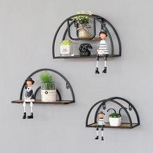 Полукруглые полки для хранения в скандинавском стиле стеллаж