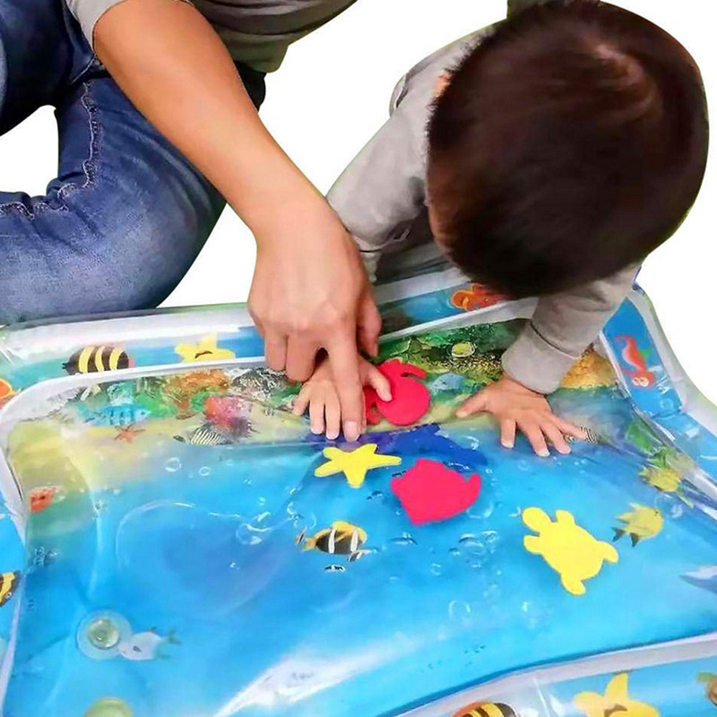 High Quality 1 Pcs Baby Kids Inflatable Water Mat Patted Play Pad Cushion Toys Early Education