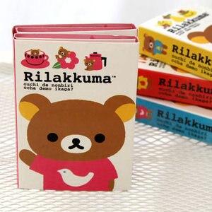 Корейские канцелярские Rilakkuma 4 складные бумажные Kawaii наклейки мини блокнот наклейки для школы стационарные/Офисные принадлежности