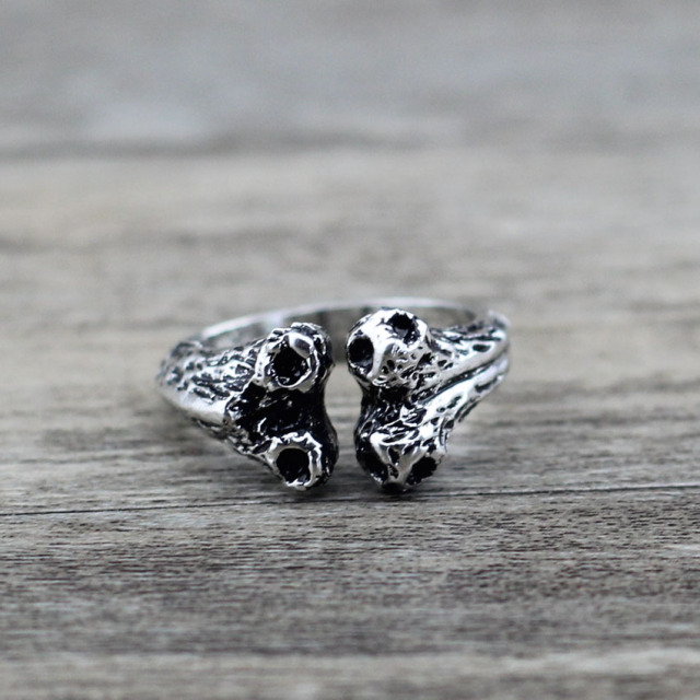 Vintage Resizable Bone Shaped Ring