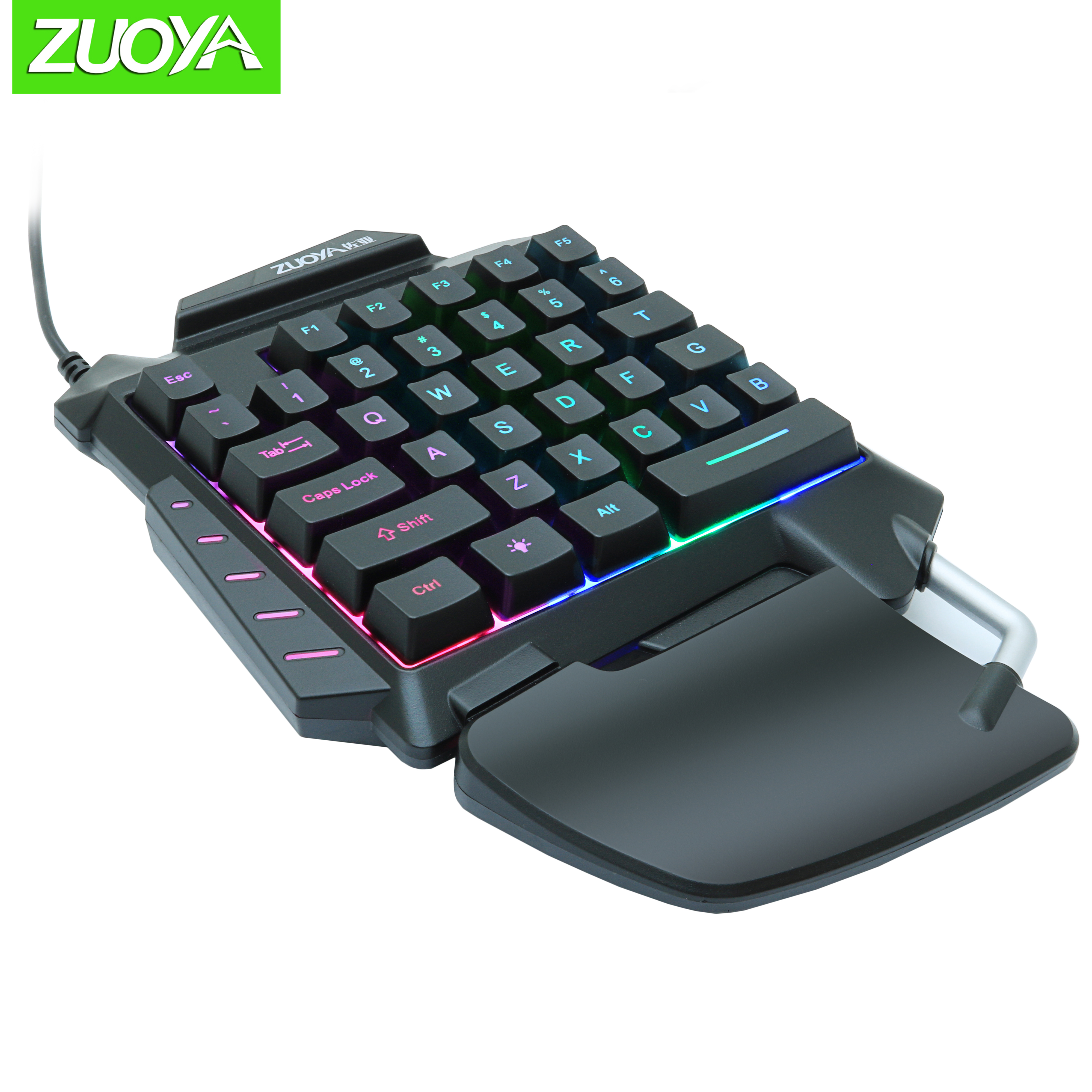 ZUOYA Single Handed Gaming Membrane Keyboard 35 Keys One Hand Ergonomic Game Keypad G92 For PC Laptop Pro PUBG Gamer