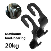 20kg Load-bearing 1/2/4/6pcs Car Rear/Back Seat Hooks for Hanging Auto Products Universal Car Hanger Bag Organizer Holder(China)