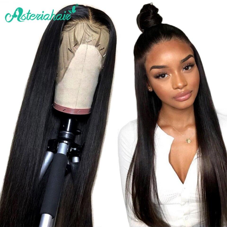 Pelucas de cabello humano con encaje Frontal 360, pelucas brasileñas rectas de encaje para mujeres negras, peluca Frontal 370, peluca de encaje Remy