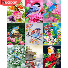 HUACAN DIY Bird Painting By Numbers Flowers Coloring By Number Hand Painted Drawing Cavnas For Adult Modern Wall Art