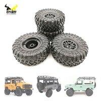 MN WPL-Juego de Llantas de ruedas de neumáticos de coche MN D90 D91 Mn99s, piezas de repuesto de coche teledirigido, neumáticos montados, WPL MN, 1:12