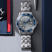 2021 New PAGANI DESIGN Wave Men Mechanical watch Luxury Automatic Watch for men NH35 Sapphire crystal Dive wristwatch clock man