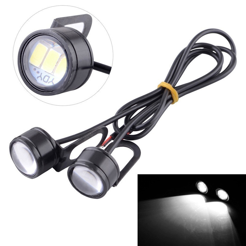 2pcs White Motorcycle Light LED Handlebar 12V LED Motorcycle Headlight Headlight 120LM LED Motorcycle Light Driving Fog Light